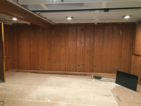 painting paneling in basement 1000 diy basement renovation first thyme mom