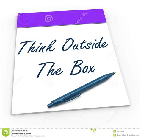 design notepad meaning think outside the box notepad means unique stock