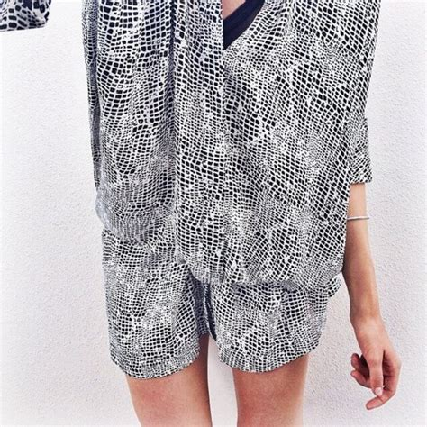 Black And White Patterned Playsuit | dress white black pattern romper romper summer