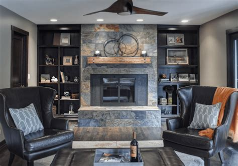 stone with built ins beautiful living rooms with built in shelving