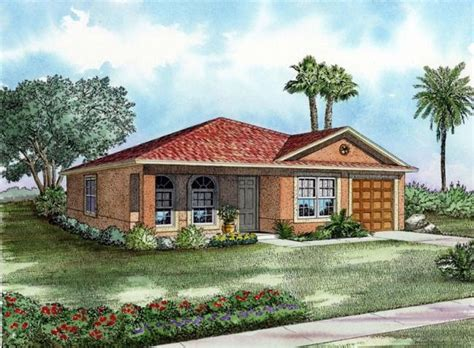 Four Gables House Plan one story house plans cottage house plans