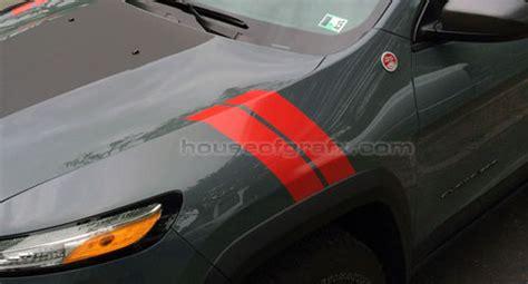 jeep cherokee  trailhawk fender hash stripe stripes