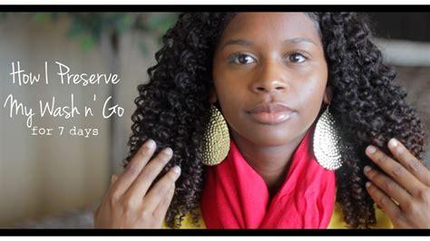my wash n go the natural mane natural hair talk how i preserve my wash n go youtube
