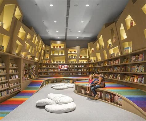 bookstore layout child s play arthur casas designs a rainbow twisted kids