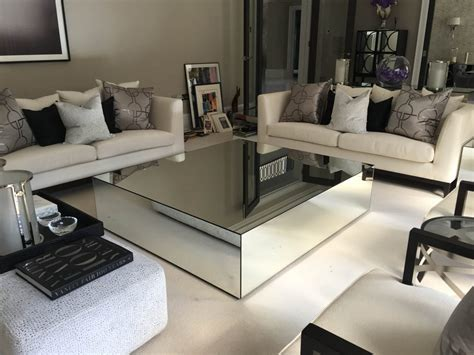 mirrored glass coffee table mirrored coffee tables klarity glass furniture
