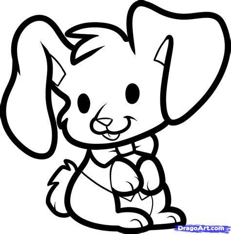 How To Draw An Easter Bunny For Kids Step By Step Easter Seasonal Free Online Drawing Simple Drawing For Kid