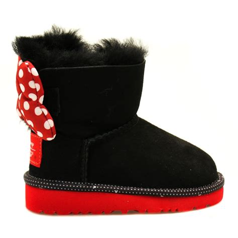 boots toddler buy ugg 174 disney toddler black sweetie bow boots 5 11