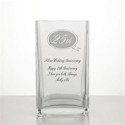 Wedding Anniversary Vase by Silver Wedding Annivesary Vase 25th Anniversary Gifts
