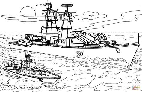 Army Ship Coloring Pages | disegno di nave da guerra 550 da colorare disegni da
