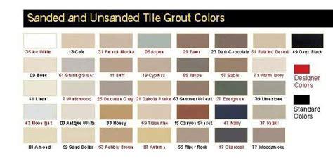 sanded grout colors ceramic tile grout color chart