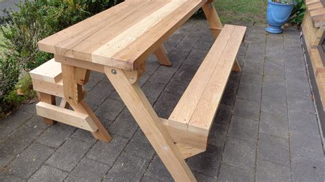 how to make a table bench how to build a picnic table bench
