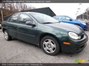 forest green pearlcoat 2000 dodge neon highline agate