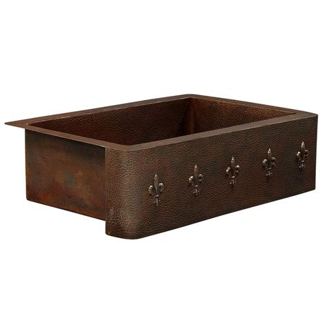 Home Depot Farmhouse Sink by Sinkology Rodin Farmhouse Apron Front Copper Sink 25 In