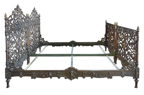 cast iron bedroom sets pair of cast iron italian beds for sale at 1stdibs