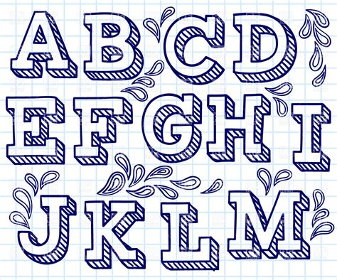 Letter In Fonts font shaded letters and decorations royalty