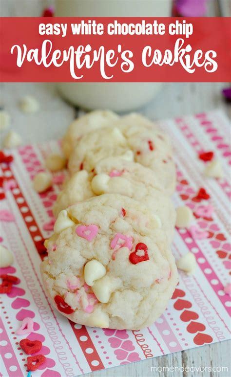 easy white chocolate chip valentine s cookies