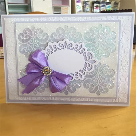 mica powders for card card using sue wilson striplet die and mica powder and