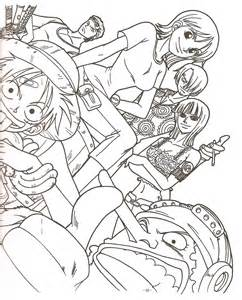 piece crew colouring pages