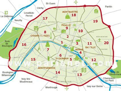 sections of paris paris map neighborhoods districts arrondissements