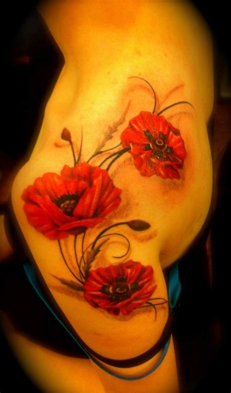 red flower tattoo designs 25 best ideas about poppies on