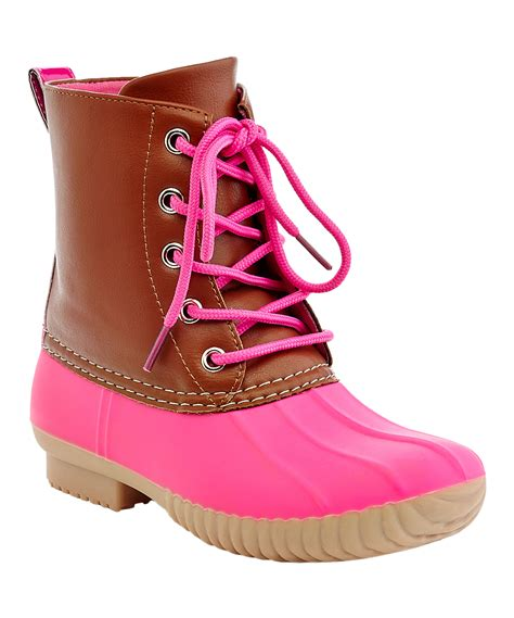 pink duck boots henry ferrera pink mission duck boot zulily