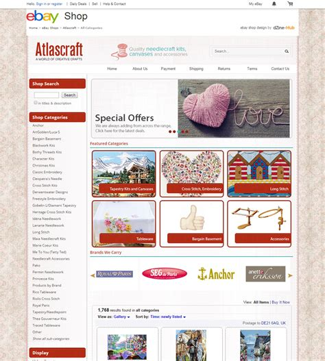 how atlascraft benefited with a brand new ebay store