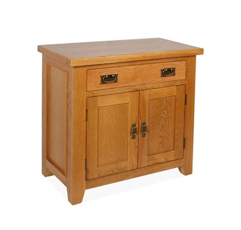 Canterbury Oak Mini Sideboard with 2 Door and 1 Drawer