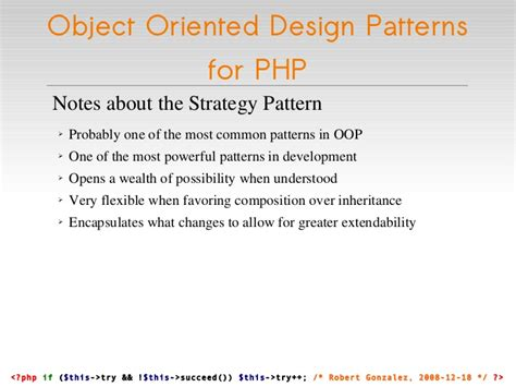 design pattern recovery in object oriented software object oriented design patterns for php