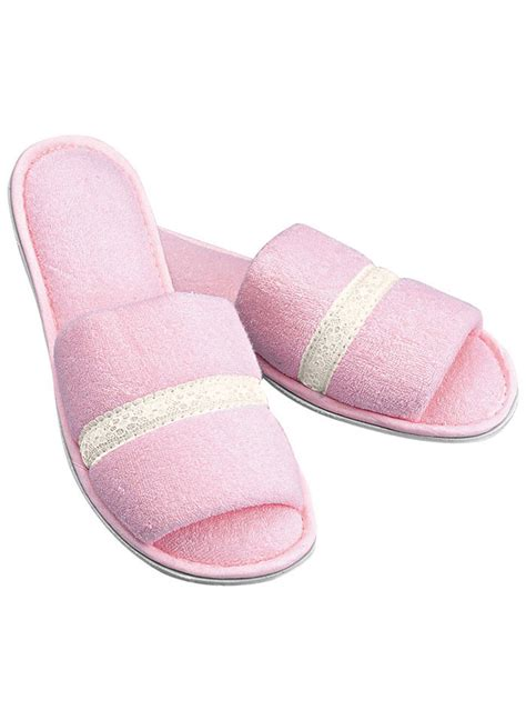 pink slippers open toe slippers amerimark catalog shopping
