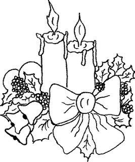 imagenes bonitas de navidad para colorear velas de navidad para colorear