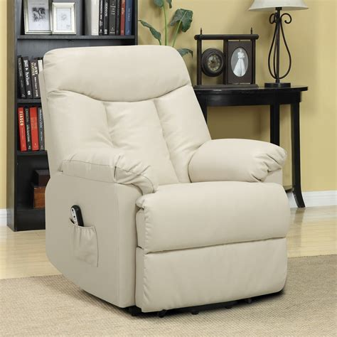 seat recliners electric lift chair recliner cream leather power motion