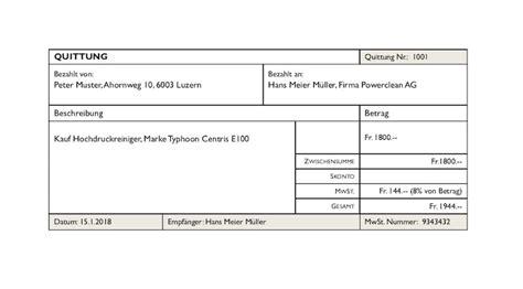 Microsoft Word Vorlage Quittung quittungsvorlage schweiz gratis herunterladen vorlage