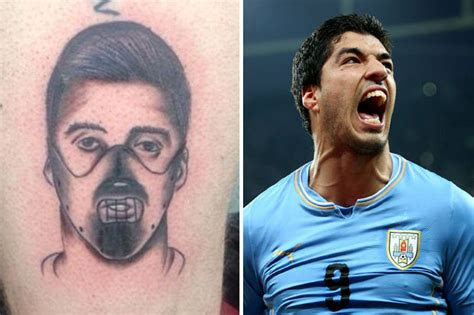 luis suarez tattoo dedicated uruguay fan gets terrible of luis suarez