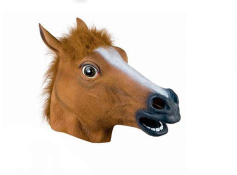 funny horse head mask funnymadworld funny full head mask horse head mask creepy fur mane latex