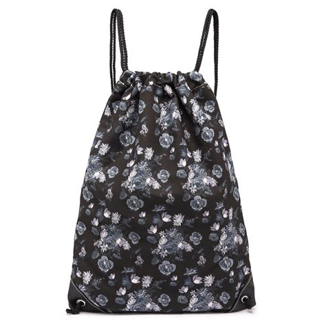 printed drawstring backpack e1406 16rose miss lulu unisex drawstring backpack