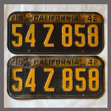 Vanity Plates For Sale by 1941 1942 1943 1944 California Yom License Plates For Sale