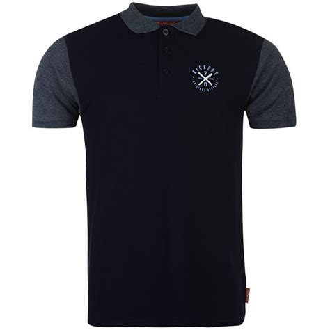 Polo Shirt Kickers Istimewa kickers mens 2 tone polo shirt ribbed print casual sleeve collar neck ebay