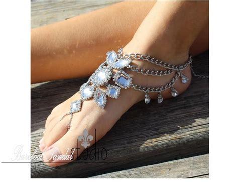 Sandal Bohemian 8 barefoot sandals bohemian rustic bridal foot jewelry