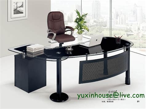 Commercial Office Furniture Desk Tempered Glass Office Desk Desk Table Commercial Office Furniture With Modern Design