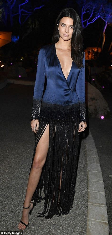 123 Kendal Dress braless kendall jenner draws attention to cleavage during cannes festival daily mail