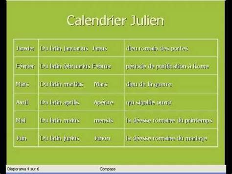 V De V Calendrier Calendrier Julien