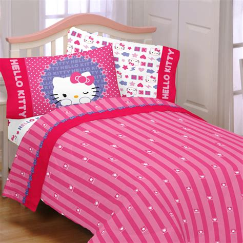 hello kitty bedding set hello kitty microfiber kitty and me full kid s character