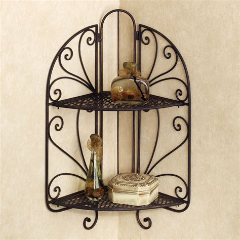 Corner Dining Room Cabinet by Wrought Iron Corner Shelf Ideas Homesfeed
