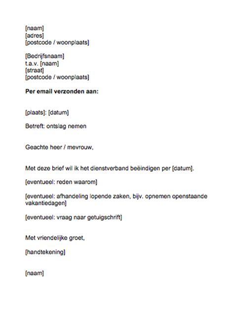 brief officiele waarschuwing werknemer voorbeeld ontslagbrief betaalbare arbeidsjurist
