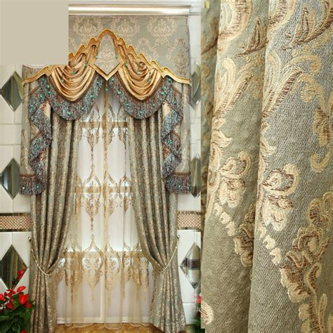 European Style Curtains Custom Luxury European Style Curtains Bedroom Living Room Bedroom Luxury Jacquard Embroidery