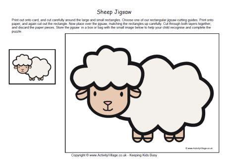 Printable Sheep Template by Printable Jigsaw Sheep