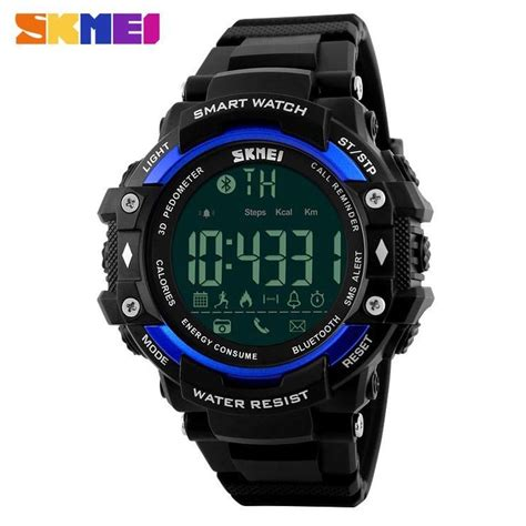 Jam Smartwatch I One skmei jam tangan olahraga smartwatch bluetooth dg1226 bl black blue jakartanotebook