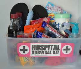 Hospital survival kit baby shower gift this amp that