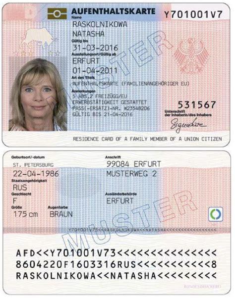 permesso di soggiorno schengen aufenthaltskarte deutschland