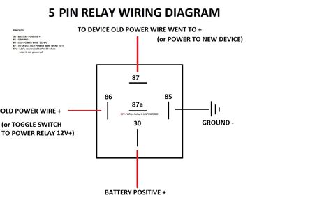 5 pin relay wiring diagram driving lights relay free